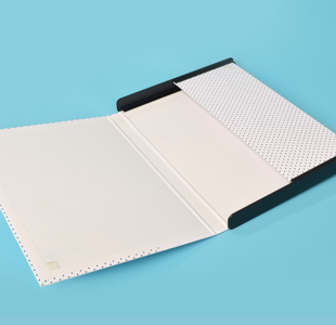 Folders with plastic sides
